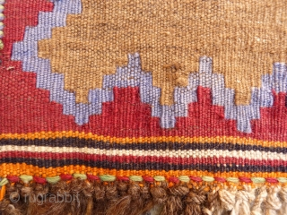 Cute little Qashqai camel wool kilim, following the style of a sofreh. 64x53cms. (K1601207)