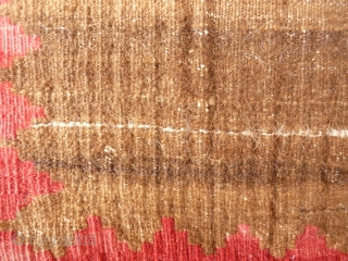 A nicely abrashed Qashqai camel wool little kilim, following the desing of a sofreh. 67x54 cms (k1601211).