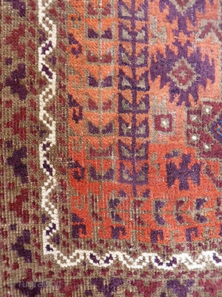 An unusual size for a Mushwani Belouch rug, from Herat region. Low pile but structurally sound, with an autumn palette. 166x72 cms 19th century. (A1812027).  Please get in touch or you can also  ...
