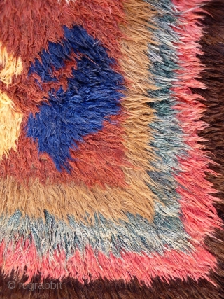 A great julkhir woven by Uzbek weavers in Afghanistan. The central field is occupied by enormous botehs. 258x103 cms. 1950S, (A1802027).  Please get in touch or you can buy this rug directly from  ...