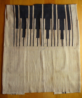 Hand woven fine wool Bakhtiari coat known as 'cuqa' and worn by the Bakhtiari male nomads. Made from two narrow strips of cloth sown together.