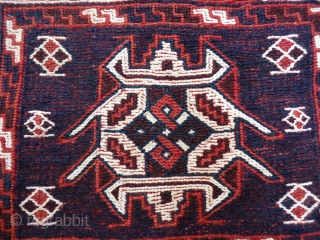 A very finely woven soumak Bakhtiari bag front. Good colours and condition, no repairs. 62x48 cms, (k1601366)