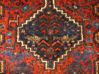 Arabe Laberdeh (Khamseh) Rug, 140x83, sweet little rug with a nice range of colours and motifs including peacocks and rain-symbol birds protecting a sacred tree.