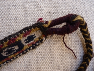 Qashqai Kashkuli, horse neck-band from about 1930, excellent original condition without holes or repairs and with a wonderful smell of wool and horses, 93x4cms, natural colours.