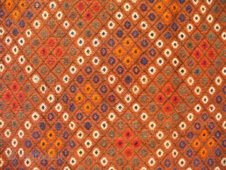 Arabic ( Khamseh ) flatweave, 212x165cms, tip-top condition, almost soumak but not quite, these flatweaves consist of a balanced plainweave with the design stitched on top and are known locally as shiraki  ...