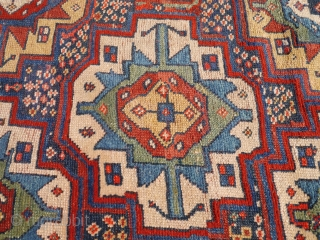"""Persian Kurdish rugs with colours """"to dye for"""", soft shinny wool, some repiling. 265x149 cms. (A1705510)."""