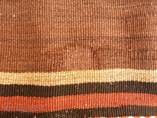 Caucasian kilim with nice shinny wool, tightly woven, some old repairs (see photos). 252x158 cms