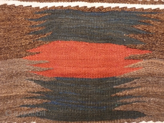 Kamo or Kamo area sofreh. The dyed parts are sheep´s wool, the rest goat´s. 93x80 cms