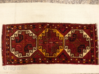 Uzbek mafrash panel. Soft glossy wool, thick pile. 96x42 cms