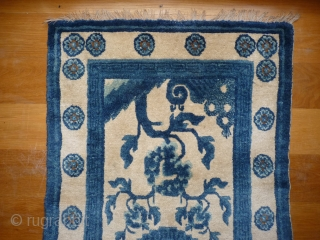 Chinese carpet with the softest wool. 130x62cms