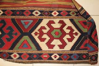 nice and fine persian shahsavand Mafrash killim ,all colours are natural (circa 1880 -1900)