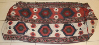 interesting very fine Azerbayjan shahsavan Mafrash killim size Lengh 108cmxwidth 65cmxheight 50cm.