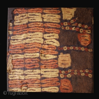 Dancing kerchief fragment cod. 0330. One of the items posted on my new website www.nonplusultra.cloud. Raffia and natural pigments. Dida people. Ivory Coast. First half 20th. century. Very good condition. Cm. 71  ...