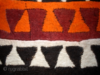 "Felt "" Shyrdak""cod. 0474. Wool. kirghizistan. Early / mid. 20th. century. Condition issue. Some minor tears and holes. Cm. 137 x 322 (54 x 127 inches).  