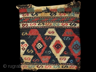 """Chanteh cod. 0687. Wool and cotton. Shahsavan people. Nothwestern Persia. Late 19th. century. Cm. 24 x 28 (9.5"""" x 11""""). Good condition (see images)."""