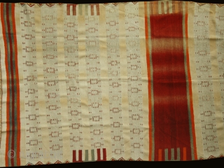 Saddle cover ? Curtain ? cod. 0457 one of the new item posted on my website www.nonplusultra.cloud. Wool traditional dyes. Berber people. Tunisia or Algeria. Early 20th. century. Very good condition. Cm.  ...