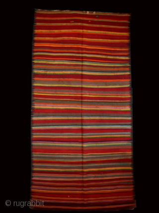 "Tunisian kilim cod. 0209. Early 20th. century.Dimension cm. 209 x 398 (82"" x 157""). Some condition issue."