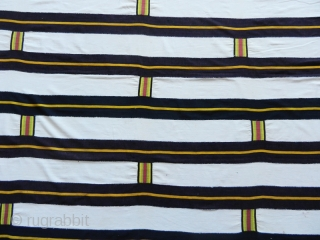Ewe woman' s cloth cod. 0744. Imported industrial cotton. Ghana. Late 19th. century.Excellent condition. Measurement:197cm x 146cm (77 x 57 inches). 