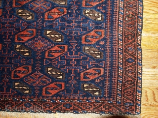 #1B340  Hand made antique collectible Afghan Baluch bag face 1.7' x 1.11' ( 52cm x 59cm ) 1880.C