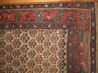 #1B440  Hand made antique Persian Kurd-Bidjar runner 3.5' x 17.7' ( 106cm x 539cm ) 1900