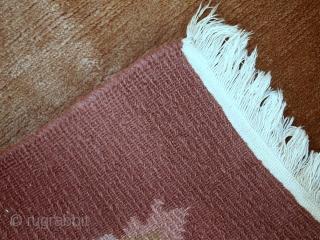 Handmade vintage Tibetan Khaden rug 3' x 5.4' ( 92cm x 165cm ) 1970s - 1C392