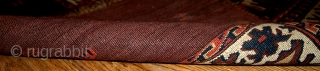 #1B353  Hand made antique collectible Turkoman Yomut chuval 2.6' x 3.7' ( 79cm x 112cm ) 1860