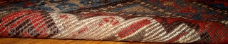 #1B441  Hand made antique collectible Persian Kurdish rug 3.5' x 4.6' ( 106cm x 140cm ) C.1870