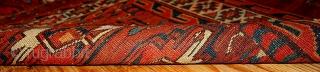 #1B320  Hand made antique collectible Turkoman Yomud rug 2.11' x 4.3' ( 94cm x 131cm) 1880