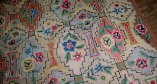 Hand made antique American hooked rug 6' x 8.10' ( 183cm x 272cm ) 1900 - 1B537