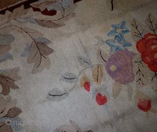 Handmade antique American hooked rug 5.10' x 8.10' (180cm x 272cm) 1880s - 1B539