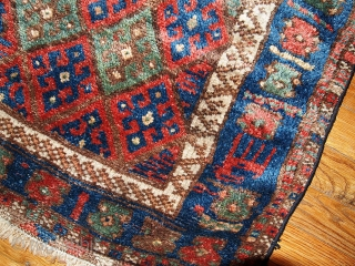 #1B321  Hand made antique collectible Persian Kurdish bag face 1.11' x 2.1' ( 61cm x 64cm ) 1880s