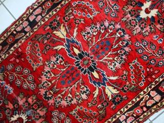 Handmade antique Persian Lilihan runner 2.7' x 23.3' ( 84cm x 712cm) 1910s - 1C452