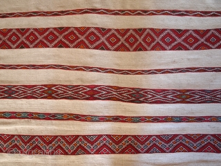 #1C214  Hand made antique Mroccan kilim 5.2' x 8.5' ( 159cm x 261cm ) C.1950s