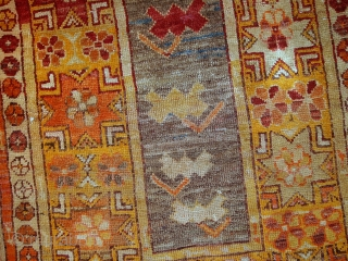 #1C441  Hand made Antique Turkish Anatolian rug 3' x 4.4' ( 94cm x 136cm ) C.1920s