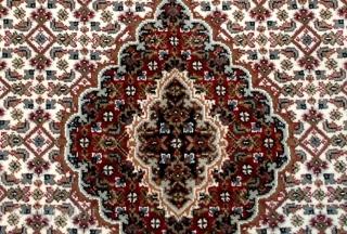 #1D04  Hand made woolen Persian Tabriz style rug 3' x 5' ( 91cm x 152cm) C.2014