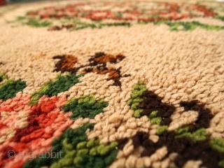 #1C270  Vintage Belgium Savonnerie rug 6.5' x 9.8' ( 199cm x 299cm ) C.1960s
