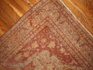 #1B155  Hand made antique Turkish Sivas rug 4.2' x 6.1' ( 128cm x 186cm) 1900s