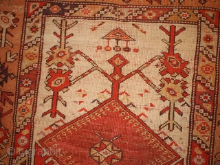 #1B103  Hand made antique Turkish Melas rug 4' x 6' ( 122cm x 183cm) C.1870s
