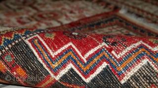 #1C306  Hand made vintage Persian Hamadan rug 2.4' x 4.1' ( 73cm x 125cm ) 1970.C