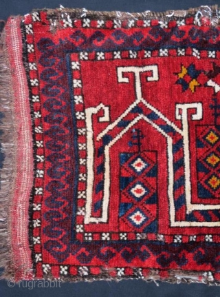 Antique and rare Kirghiz yastk, Pure Wool, Natural color .85 x 45 cm