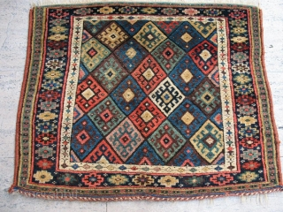 Kurdish Jaff bag face , pure wool natural color in good condition .90 x 70 cm