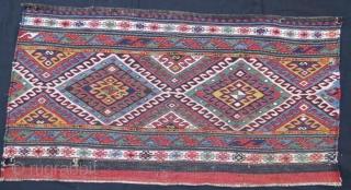 Shasavan Mafrash panel,with little damage.108 x 50 cm