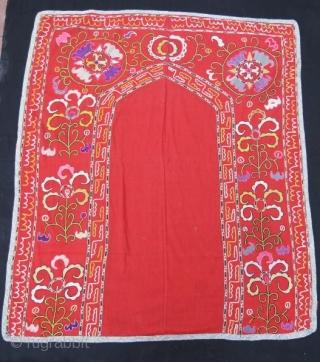 Uzbek Silk embroidery Suzani with little damage.130 x 115 cm