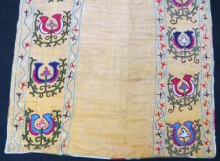 Uzbek Suzani with little damage.152 x 95 cm