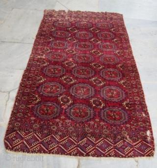 Tekke main rug with damage,240 x 120 cm