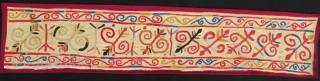 Uzbek lakay technic fragment 105 x 20 cm