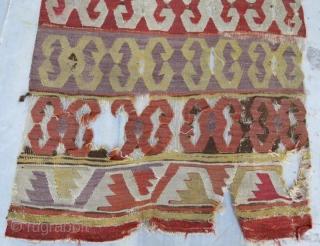 early anatolian kilim fragment .306 x 80 cm