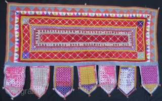 Mirrored Indian Tribal Silk Embroidery .  Walance Panel for your Wall Hanging,in good condition  size 130 x 80 cm