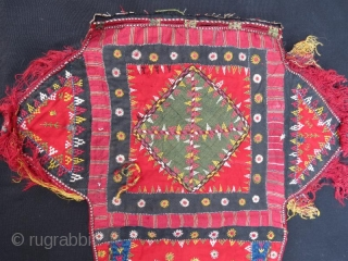 Turkmen silk embroidery part of camel cover in good condition,55 x 50 cm  www.eymen.com.tr