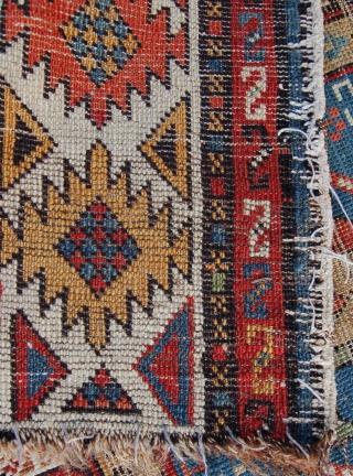 An interesting east caucasian rug. 178 x 89cm.